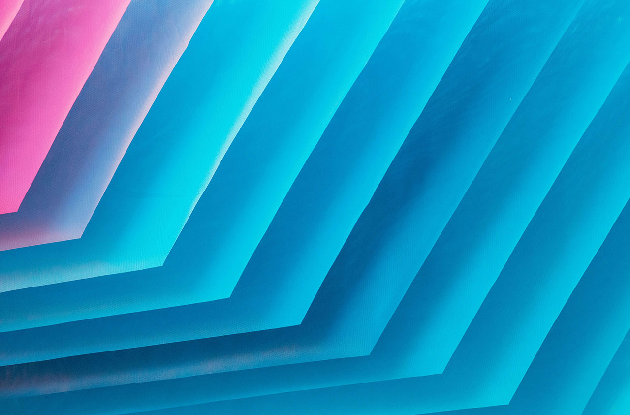 Abstract angled colorful paper